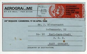 1968 Australia ⁘ Economic Commission for Asia & Far East  ~ (By Air Mail)