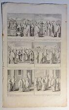 Bernard PICART (1673-1733) Kupferstich-Blatt um 1720 mit 6 Abb.: Vatikan (03