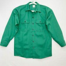 Steel Grip Flame Resistant Medium Shirt Overshirt Work Welding Green Snap Usa