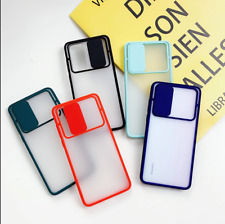Candy Color Slide Camera Lens Case for Samsung Galaxy A51 A71 A81 A31 Soft Cover