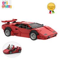 Classic LP5000 QV Supercar Sports Car LP5000 Quattrovalvole Toys Set Red Version