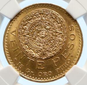 1812 MEXICO Aztec Calendar PIEDRA DEL SOL Eagle Gold 20 Pesos Coin NGC i96154