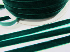 "10 yards 3/8"" Velvet Ribbon 9mm/Satin Back/craft FREE US SHIP R116-Emerald Green"