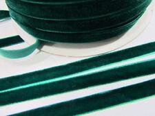 "10 yards 3/8"" Velvet Ribbon 9mm/Satin Back/craft FREE US SHIP R116-Emerald Green"