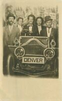 Automobile Studio Prop group C-1910 Denver Colorado RPPC Photo Postcard 21-2350