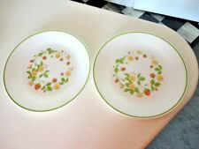 "LOT OF 2 CORELLE by CORNING STRAWBERRY SUNDAE 8.5"" LUNCHEON DINNER PLATES"
