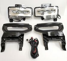 Built-in LED Fog Light Kit Fit 2016 2017 2018 GMC Sierra 1500 Bezel Wire Switch
