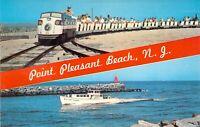 NJ Point Pleasant Beach MINIATURE RAILROAD Manasquan Inlet MINT postcard B6