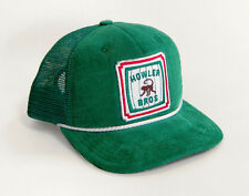 Howler Brothers BARREL OF MONKEYS Snapback Hat ~ Green Corduroy NEW ~ Closeout