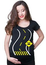 Funny Pregnancy Bump Ahead T-shirt Maternity Baby Announcement Tee shirt