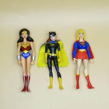 """Lot Of 3 Dc Universe Young Justice Jlu batgirl supergirl woderman 4"""""""