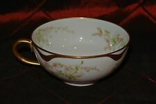 Haviland Limoges France Cup White ,Gold Trim and Pink Flowers
