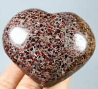 272g Natural Beauty Rare Red Garnet Crystal Heart Mineral Specimens