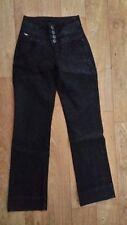 Arizona Damen Stretch - Jeans , Schwarz , Größe 16 ( W 24 / L 30 ) , NEU