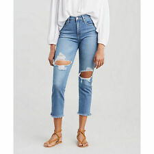LEVIS SCULPT 724 HIGH RISE STRAIGHT CROPPED  0/25W NEW WITH TAG