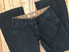 1921 Jeans By Silver Wide Leg 27 x 30 Short Dark Low Rise Stretch