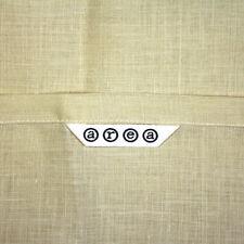 90s NEW Vintage 2 AREA Standard Pillow Shams, Pale Yellow Linen, Flange Edge