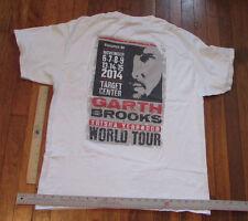 Garth Brooks Concert T-Shirt 2014 World Tour w Trisha Yearwood Size L Local Crew
