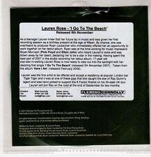 (GU471) Lauren Rose, I Go To The Beach sampler - 2007 DJ CD