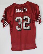 BARLOW #32 SAN FRANCISCO 49ERS AMERICAN FOOTBALL JERSEY BOYS LARGE REEBOK