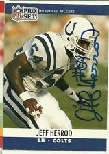 1990 NFL Pro Set JEFF HERROD Signed Card Lambeau Field COLTS OLE MISS REBELS