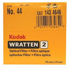 Kodak Wratten optical Filter. 75 x 75 mm. No.44 cat 143 4646