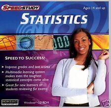 SPEEDSTUDY STATISTICS :BOOST GRADES -  BUILD SKILLS FAST!  FAST / FREE SHIPPING!