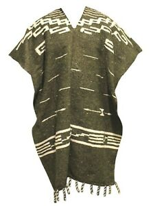 Clint Eastwood Style Woven Mexican Diamond Poncho Western