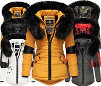 Navahoo Damen Warm Winter Jacke Parka FVS1 mantel Teddyfell Steppjacke NIRVANA