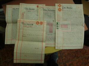 5 Antique Vellum Documents/Indentures