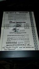 The Divine Obsession Julia Franklin Rare Original Promo Poster Ad Framed!