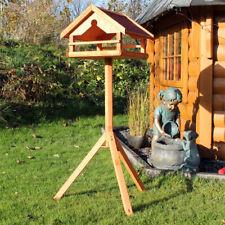 Vogelhaus mit Ständer aus Holz Vogelfutterhaus Vogelhäuschen #