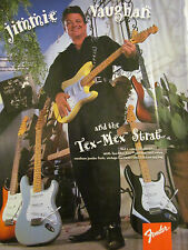 Jimmie Vaughan, Fabulous Thunderbirds, Fender Guitars, Full Page Promotional Ad