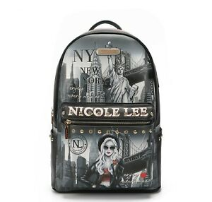Nicole Lee Women's Laptop Backpack With USBCharging Port Life New York USB12769L