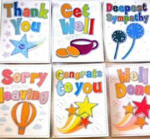 """superb RELATIONS / OCCASION CARDS X 240, AUCTION.VERY HIGH QUALITY 5"""" X 7"""""""