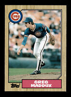 GREG MADDUX 1987 TOPPS TRADED  ROOKIE CARD #70T CUBS BRAVES RC HOFER original