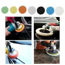 "8Pcs 5""/6""/7"" Polishing Waxing Buffing Sponge Pads Kit Compound Car Polisher"