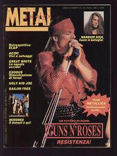 METAL SHOCK EUROPA 130/1992 EL&P GUNS N' ROSES MORDRED + POSTER AC/DC + SIMMONS