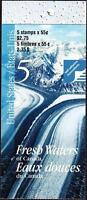 Canada 2000 Booklet #228b 55¢ Fresh Waters of Canada, open with tab inscription