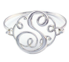 Monogram Style English Alphabet Letter Initial S Bangle Bracelet Women Jewelry
