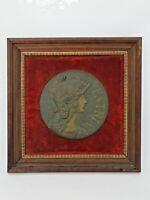 Bas relief en bronze représentant la Marianne, signé Frainier