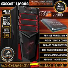 Ordenador Gaming Pc AMD Ryzen 7 2700X 4GB HDD SSD 240GB GT730 2GB de Sobremesa
