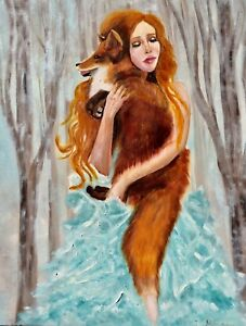 Girl with the Fox by Inna Montano Open Edition Fine Art prints