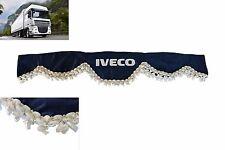 LKW Frontscheibenborde Verzierung Vorhänge BLAU für IVECO Trakker Stralis Cursor
