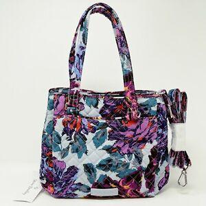 Vera Bradley Mini Multi-Compartment Crossbody in Neon Blooms Purse Bag