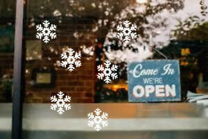 Christmas vinyl window/ wall decals stickers Snowflakes Bells Christmas tree