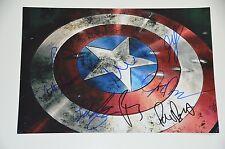 Capitán América era civil, 8 x cast signed 20x30cm foto autógrafo Autograph IP