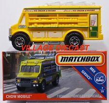 2018 Matchbox Power Grabs #25 Chow Mobile™ (Food Truck) YELLOW / CLARK'S / MIB
