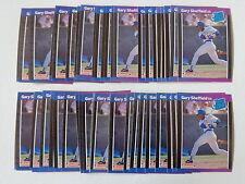 Gary Sheffield 1989 Donruss Baseball Rookie Card #31 - 50 Card Lot
