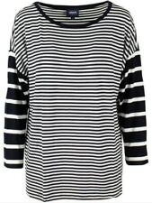 BNWOT ARMANI JEANS AJ women's oversized blue striped, long white knit top szUS S